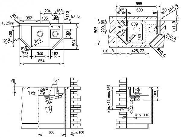 Устройство кухонных моек заказ мебель для комнаты