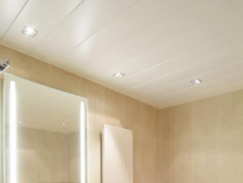 Как сделать пластиковый потолок в туалете